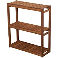 Plantation Teak Three Tiered Shelf