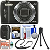 Minolta MN12Z OIS 12x Zoom Wi-Fi Digital Camera (Black) 8GB Card + Case + Flex Tripod + Sling Strap + Kit