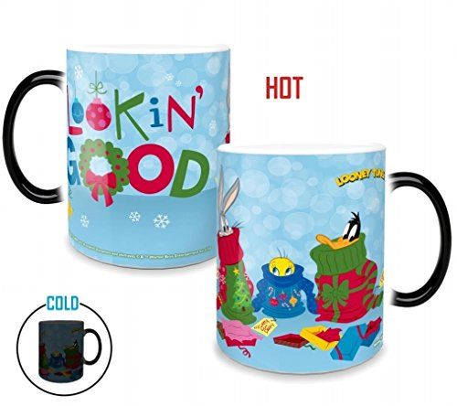 Looney Tunes (Lookin' Good) Morphing Mugs Heat-Sensitive, used for sale  Delivered anywhere in USA