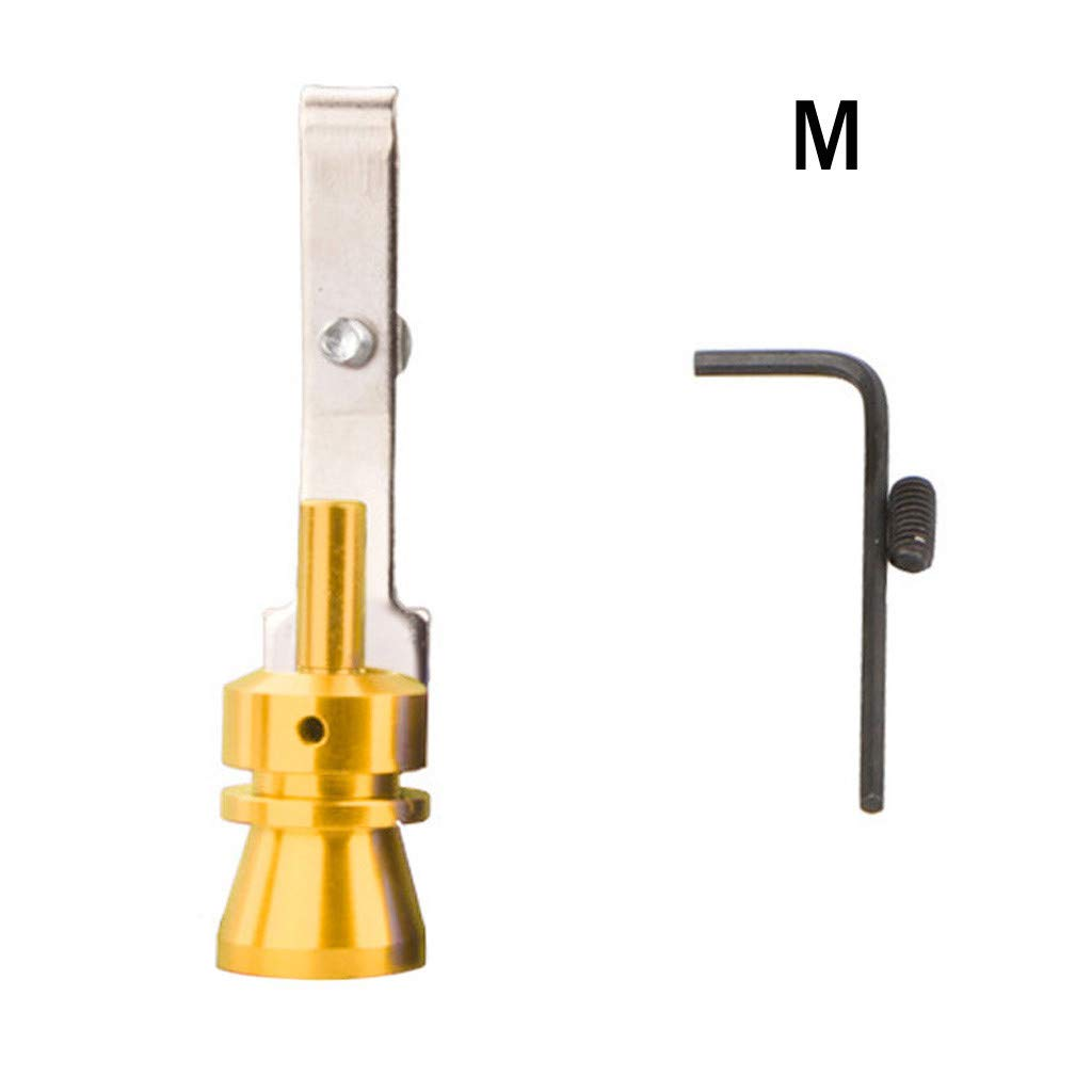 Kfz-Nachr/üst Turbinen-Nachr/üstung DingLong Aluminiumlegierung Auspuffrohr Lautsprecher 2PCS Pfeife Auspuff Oversized Roar Maker Gr/ö/ße-S//M//L//XL S Schwarz + Gold