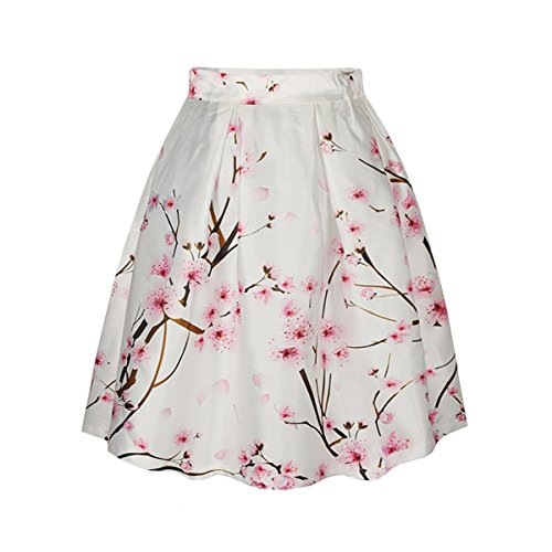jupe 002 Patineuse Floral jupe 44 rtro Style Sasairy midi A Jupe Couleur line imprime Galaxy FR36 Pli Vintage nTvBRxZ