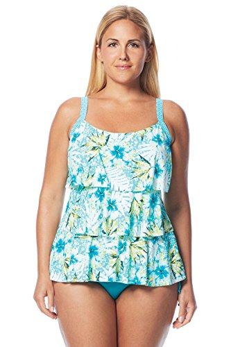 Beach House Women's Plus Size Tybee Island Classic Bra Tankini Top Pool 22W