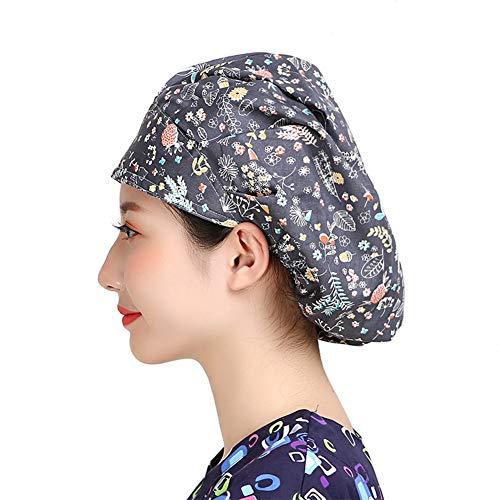 MAKEZTSD Adjustable Surgical Scrub Cap Medical Doctor Bouffant Hat Sweatband Scrub Hat Women/Men