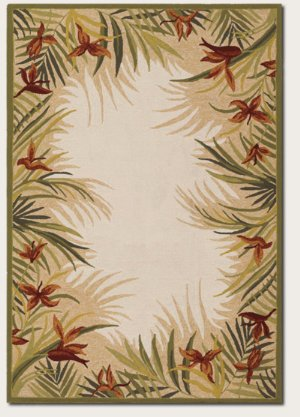 - Couristan 21291021 Covington Tropic Gardens Area Rug, Sand/Multi 3-ft 6-in x 5-ft 6-in