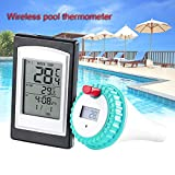 Starall Wireless Thermometer In Swimming Pool Spa Hot Tub Waterproof Thermometer Large LED Display