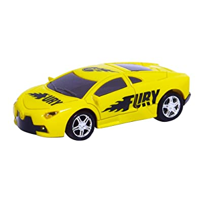 As Seen On TV RC Pocket Racers Remote Controlled Micro Race Cars Vehicle, Fury Yellow: Toys & Games