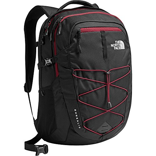 The North Face Unisex Classic Borealis Backpack Student School Bag TNF Black/Red,One Size
