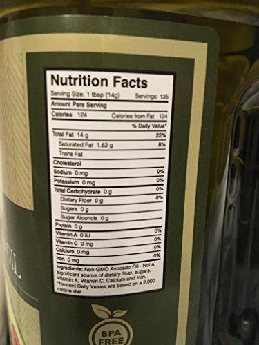 Harvest Brands Non GMO Avocado Cooking, Baking Oil - 2 liter by Harvest Brands (Image #3)