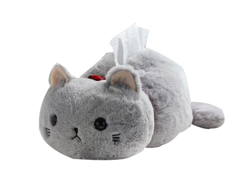 Creative Plush Dolls Tissue Boxes Tissue Containers Storage Shelves(Gray Cat) Blancho Bedding