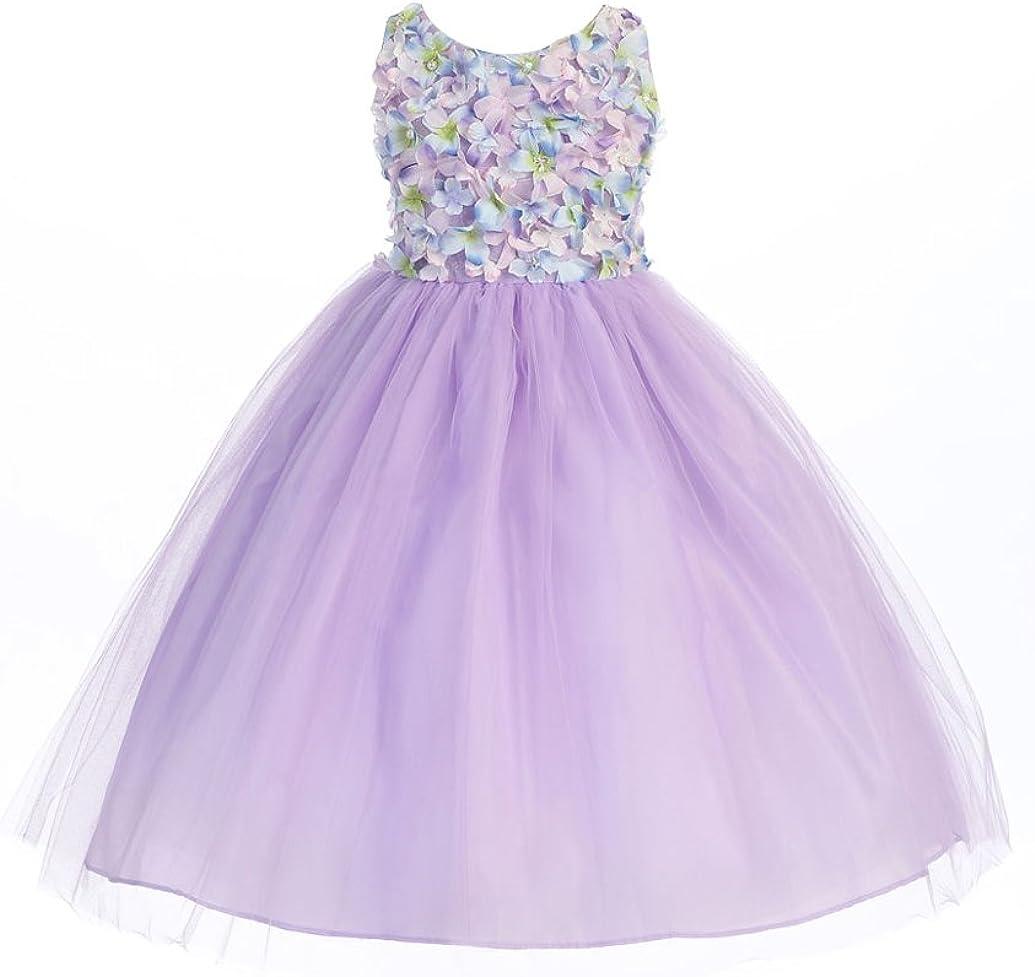 BIMARO BIMARO Mädchen Kleid Rosalie Flieder lila Blüten Perlen