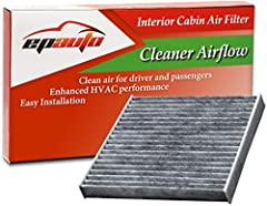 EPAuto Cabin Air Filter Provides clean air for driver and passengers, contains soda and carbon to generate fresh breeze air.  Compatible model and year list: LEXUS: CT200H (2011-2017), ES300H (2013-2017), ES350 (2007-2017), GS300 (2006), GS35...