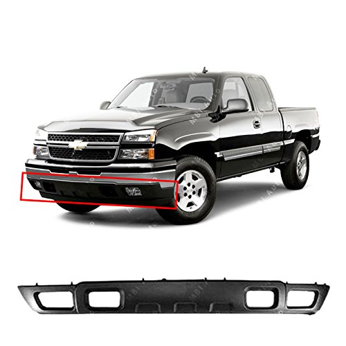 MBI AUTO - Textured, Black Front Lower Bumper Air Deflector for 2003-2006 Chevy Silverado & Avalanche 03-06, GM1092204