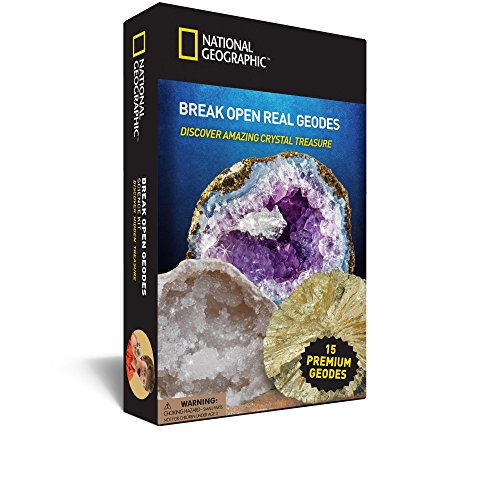 Crack Open 15 Geodes and Explore Crystals with NATIONAL GEOGRAPHIC (Open Geodes)