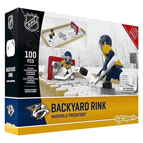 NHL Nashville Predators Backyard Rink Set, Small, Black