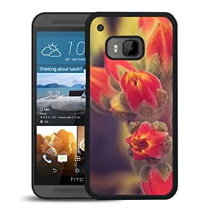 Unique DIY Designed Cover Case For HTC ONE M9 With Red Blooms Flower Mobile Wallpaper Phone Case