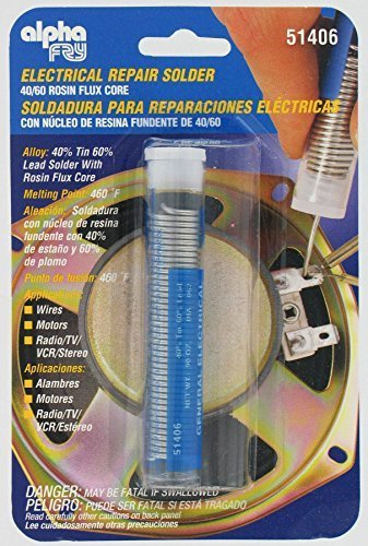 Alpha Metals #AM51406 .90OZ .062 Electric Solder (Pack of 5) by ...
