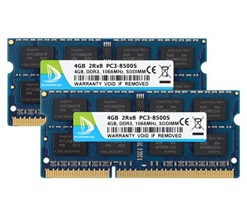 (2X 4GB) DDR3 2RX8 PC3-8500S 1066MHz 204pin 1.5v SO-DIMM Notebook Laptop Memory RAM Modules with (Pc2 5300 Ddr Sdram)