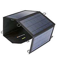 21W Solar Panel Foldable Charger Dual US...