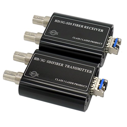 Transwan Mini 3G-SDI HD-SDI SD-SDI fiber transmitter/1080P SDI fiber extender converter (One Channel and One Loopout) to 10Km+ with 3G SDI SFP optical module and US (Sdi Over Fiber)