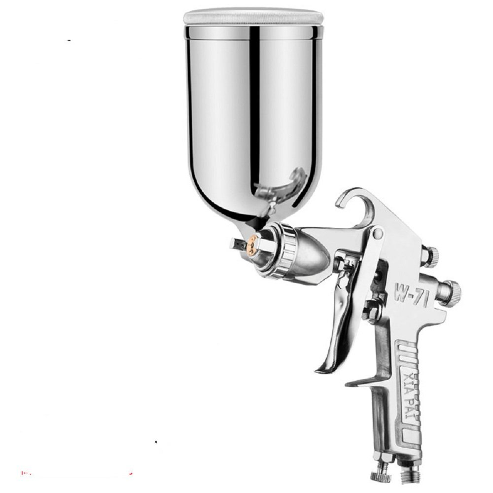 NUZAMAS Gravity Feed Air Spray Paint Gun 1.5mm Stainless Nozzle 400ml Capacity Airbrush Painting Tool for Car Furniture Painting Hand Held Paint Sprayer