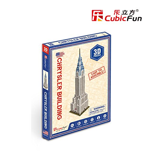 Glory 12 Crystals (Lelifang mini 3D stereoscopic model diy house paper model S3013H Chrysler Building)