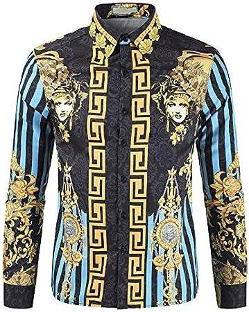IYFBXl Camisa básica/Vintage para Hombre - Floral/Tribal Tropical Leaf, Patchwork/Print, Azul, M: Amazon.es: Deportes y aire libre