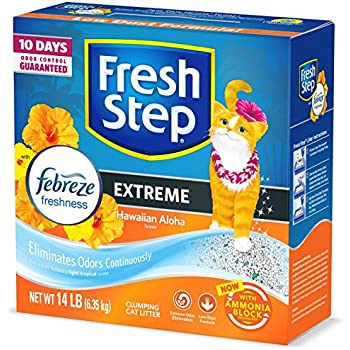 Fresh Step Scented Litter with the Power of Febreze, Clumping Cat Litter - Hawaiian Aloha, 14 Pounds