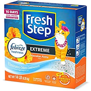 Fresh Step Extreme Clumping Cat Litter with Odor Control – Mountain Spring Scent
