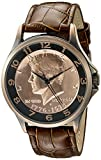 August Steiner Men's CN010C Analog Display Japanese Quartz Brown Watch