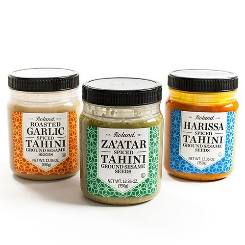 Roasted Garlic Paste - Exotic Spiced Tahini Paste by Roland - Roasted Garlic Tahini (12.3 ounce)