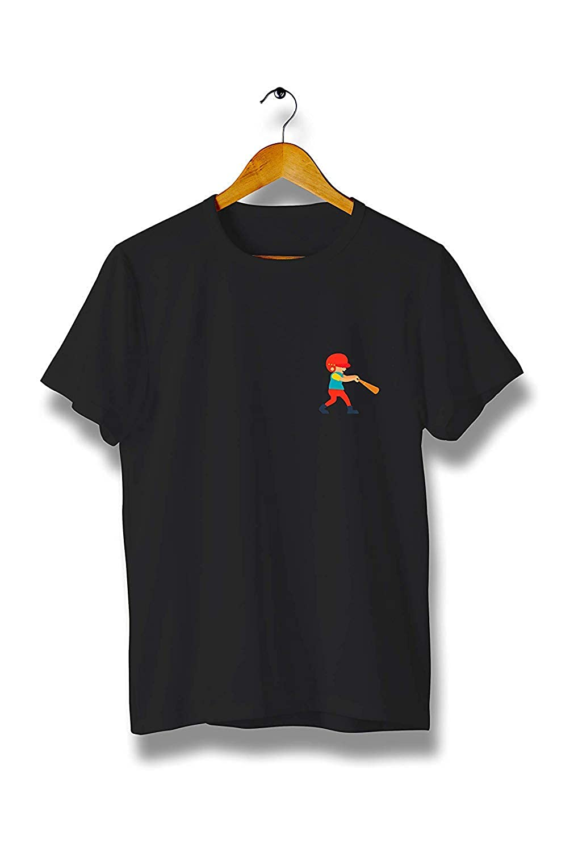Kilsd Baseball Player Bat Sports T-Shirt Modern Cool Tees for Men Y146