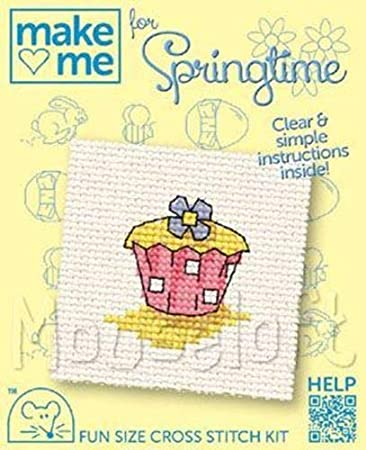 MOUSELOFT CROSS STITCH KIT ~  MAKE ME FOR SPRINGTIME ~ BEE /& FLOWER ~ NEW
