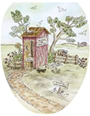 Toilet Tattoos, Toilet Seat Cover Decal, Lori's Outhouse, Size Elongated