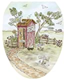 Toilet Tattoos TT-LS03-O Lori's Outhouse Decorative Applique for Toilet Lid, Elongated