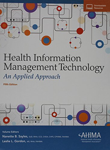 1584265175 - Health Information Management Technology: An Applied Approach