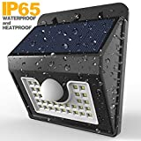 Vivii 30 led Solar lights, Super Bright LED Security Lighting Outdoor Motion Sensor Solar Spotlight flood Lighting for Garden, Patio, Fencing, and Pathway - 4 PACK