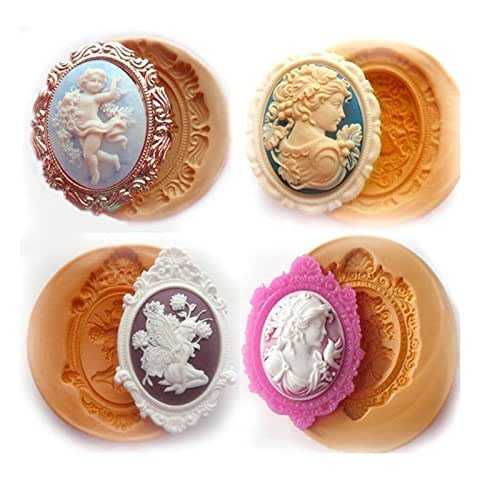 Silicone Mold Woman Cameo  A827 For Fondant Chocolate Resin Clay Candy Soap