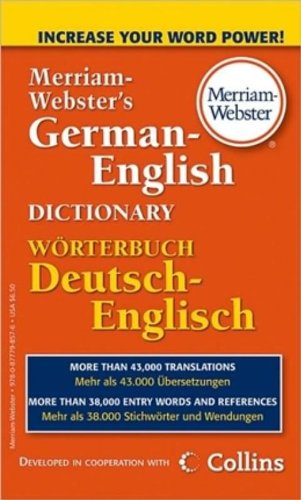 Merriam-Webster's German-English Dictionary (German Edition) [Merriam-Webster] (De Bolsillo)