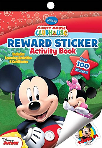 Mickey Mouse Bendon Clubhouse Mini-Sticker Pad, 16 Pages (1476) -