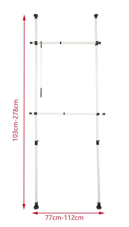 Orolay Perchero de Ropa Telescópico Altura Ajustable Telescópico Ajustable DTLD02