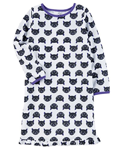 Carter's Girls' L/S Holiday Nightgown (Toddler/Kid) (2-3, Halloween