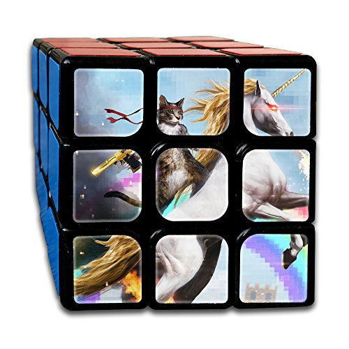 Cat Riding A Fire Breathing Unicorn 3 X 3 Cube Easy Turning And Smooth Play Magic Cube Puzzles Toys