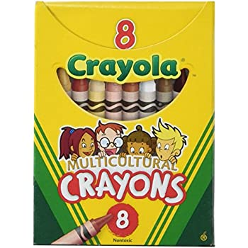 Crayola Binney & Smith (R) Multicultural Crayons, Assorted Specialty Colors, Box Of 8