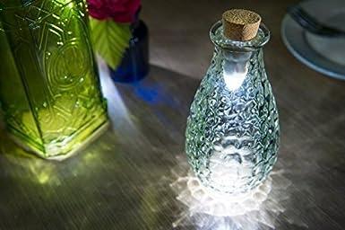 Stoog Tapón de Botella Vino Lámpara LED Botella , Corcho de Botella, USB Recargable, Luz Decoración Hogar para Navidad, Patios, Fiestas y Cenas Románticas: ...