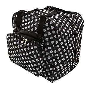 Hemline Dotty Black Polka Dot Serger or Overlock Tote Bag from Hemline