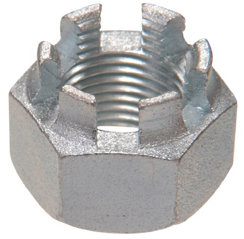 The Hillman Group 44070 M16-1.50 Metric Castle Nut, 5-Pack by The Hillman Group