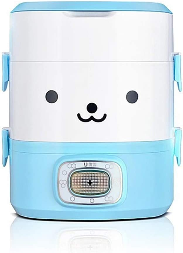 Hot Lunch Box Three-Layer Plug-in Electric Insulation Automatic Heating Rice Cooker Portable 1 Person 2 Office Workers Cooking Rice