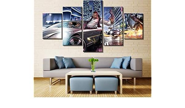 5 Piezas Lienzo Arte Cartel Moderno Decorativo s en Lienzo Arte de la Pared para Decoraciones del hogar decoración de la Pared Obras de Arte: Amazon.es: Hogar