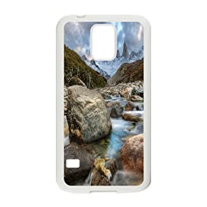 Samsung Galaxy S5 Case Mountain River in Argentina, River Tyquin, {White}