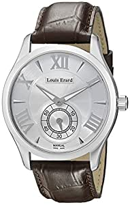 Louis Erard Men's 47207AA21.BDCL21 1931 Silver Dial XL Brown Leather Watch